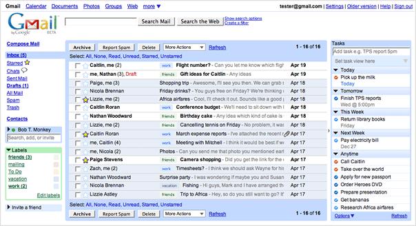 بريد غوغل المجاني جيميل Gmail