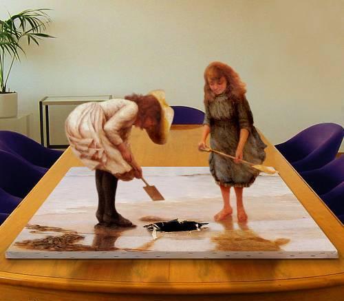 عندما تتحدث اللوحة الفنية أو الصورة وتصبح ثلاثية الابعاد